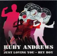 RUBY ANDREWS _ JUST LOVING YOU picture sleeve